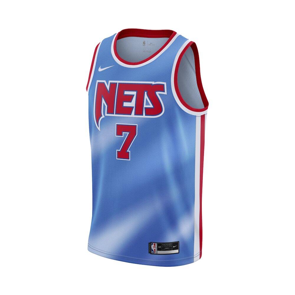NIKE 球衣 NBA Swingman Jersey 男款 籃球 Kevin Durant 杜蘭特 籃網 藍 紅 [CQ4253-402]