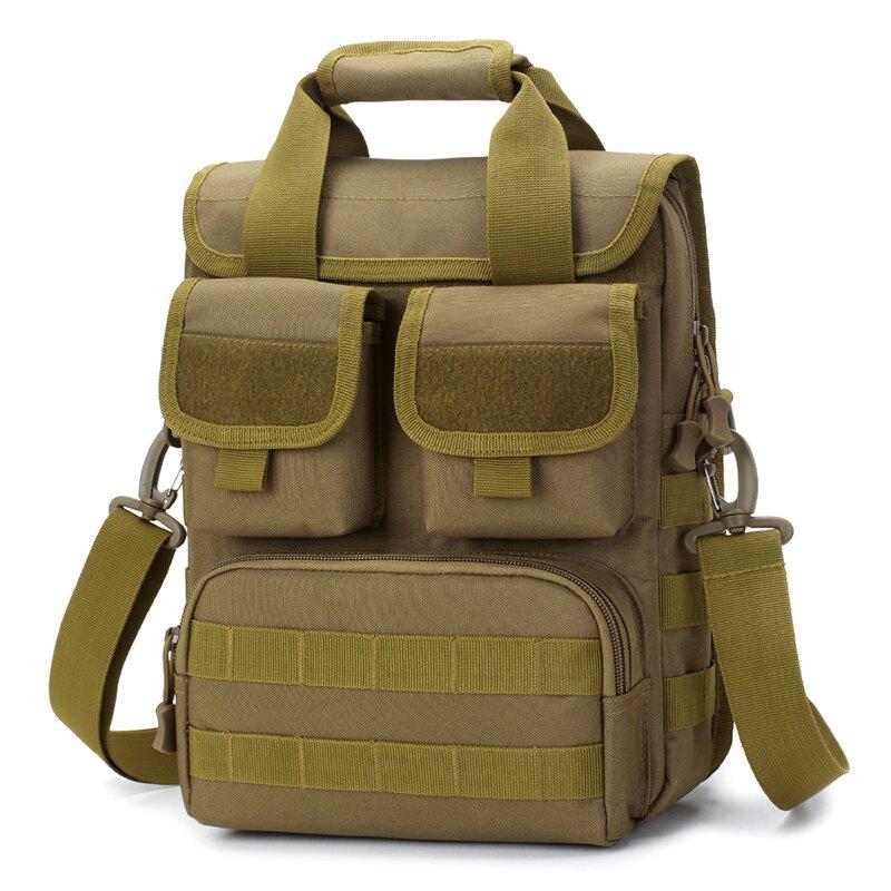 戰術包 戶外軍迷多功能大容量防水尼龍戰術男單肩斜背通勤工具背包A4