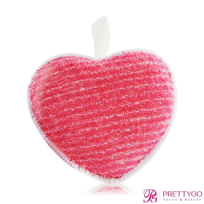 FANCL 芳珂 深層潔淨潔顏海綿(愛心型)-紅(8x8.3x2.7cm)