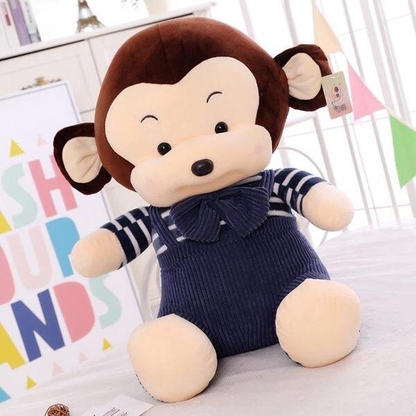 壓床娃娃一對小猴子毛絨玩具情侶猴子公仔抱枕布娃娃玩偶生日禮物JY【限時八折】