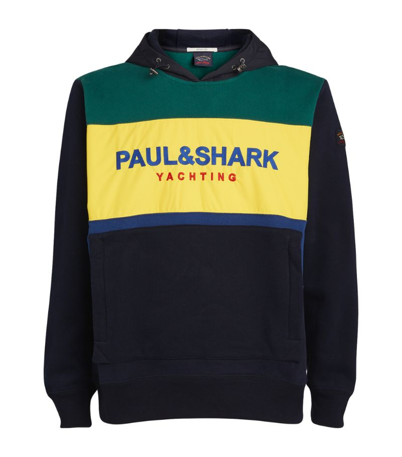 Paul & Shark Colour-Block Logo Hoodie
