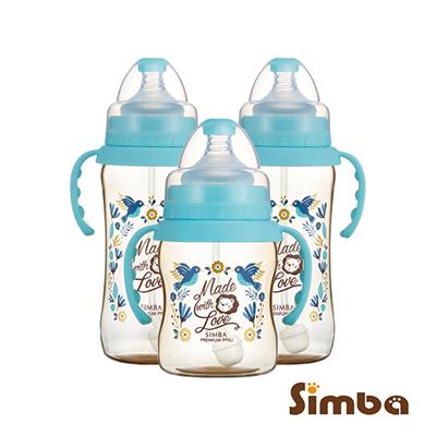 小獅王辛巴 桃樂絲PPSU自動把手寬口葫蘆奶瓶經濟組(2大1小)