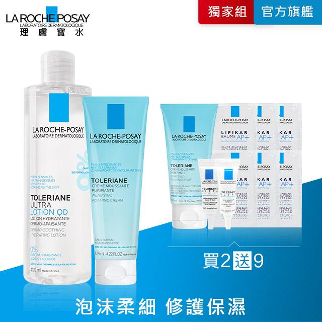理膚寶水 多容安舒緩保濕化妝水 400ml+多容安泡沫洗面乳 125ml