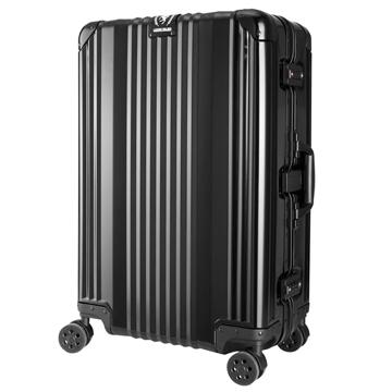 日本 LEGEND WALKER 1510-63-25吋 全鋁鎂合金行李箱 漆彈黑