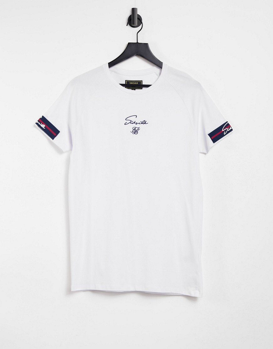 SikSilk exposed muscle gym t-shirt in white