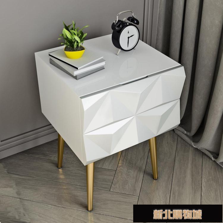 床頭櫃 床頭櫃北歐風ins簡約臥室現代輕奢迷你小型床邊櫃家用創意儲物櫃 【新年鉅惠】