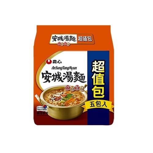 農心 安城湯麵5入超值包(625g)[大買家]