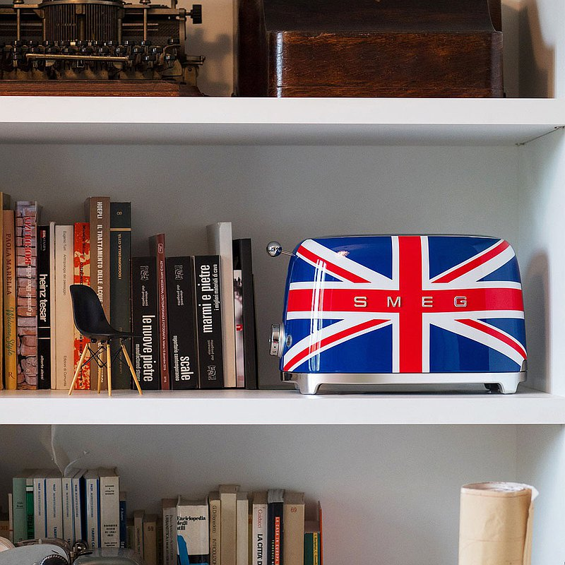 【SMEG】義大利復古美學 2片式烤麵包機-英國國旗