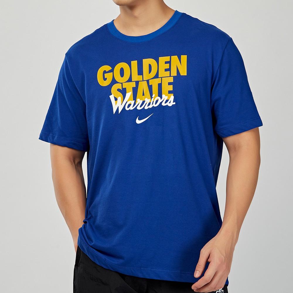 Nike 男 NBA 金州勇士隊 深藍 籃球 運動 短袖 上衣 CK8954-495