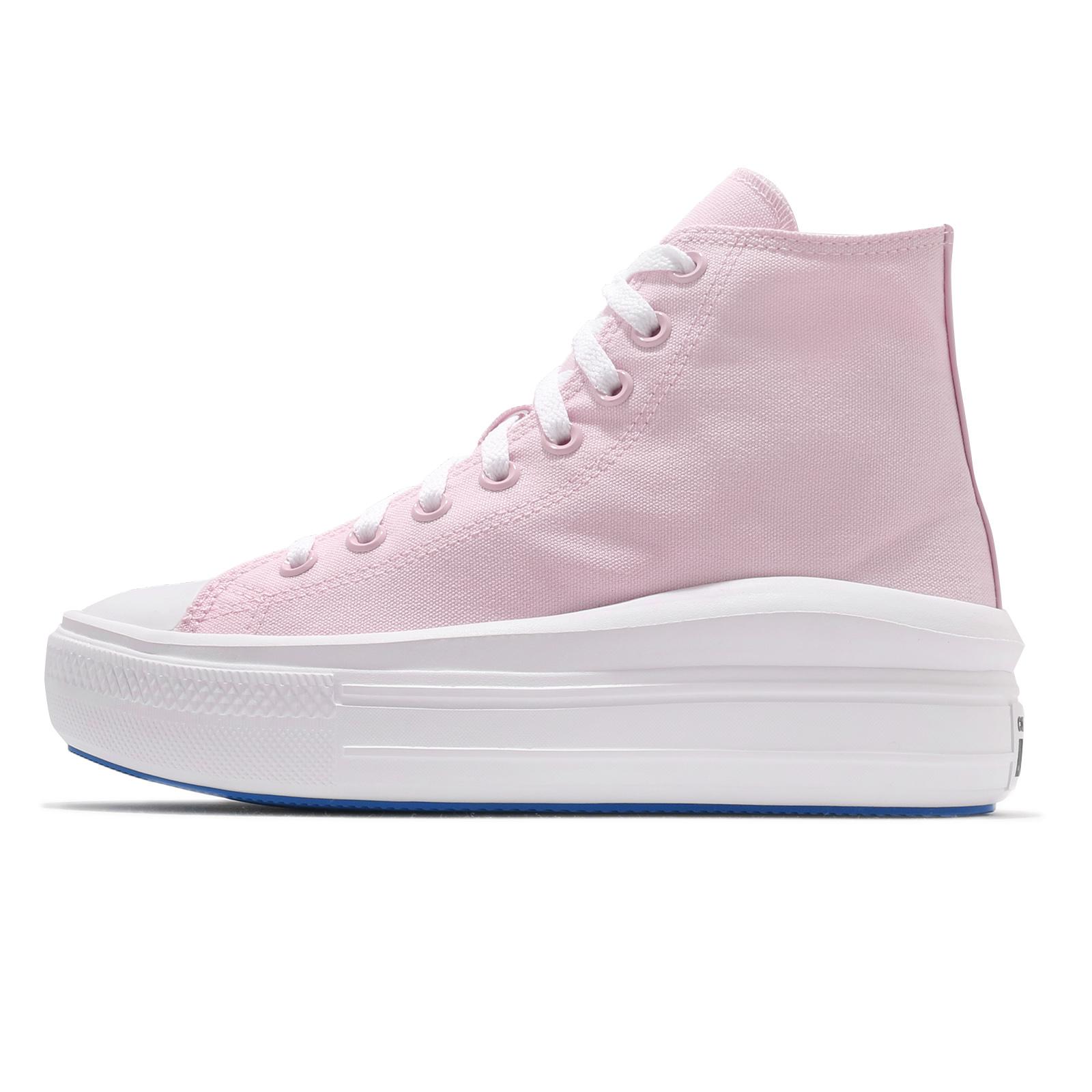 Converse 帆布鞋 Chuck Taylor All Star Move 粉紅 淡粉 女鞋 厚底 增高 【ACS】