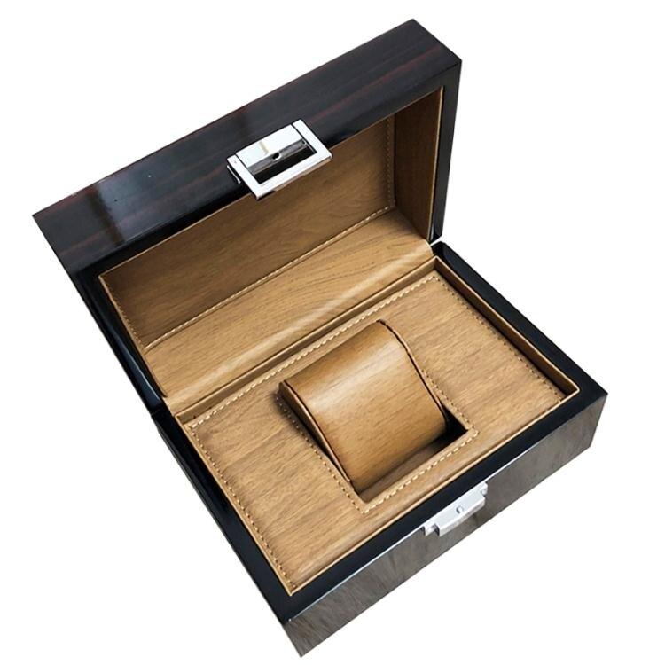 手錶盒 手錶盒子木質烤漆收納飾品盒帶鎖簡約珠寶收藏男士腕錶包裝禮盒