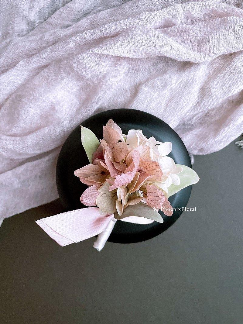 Phoenix hydrangea 永生繡球胸花 / 免費禮盒包裝
