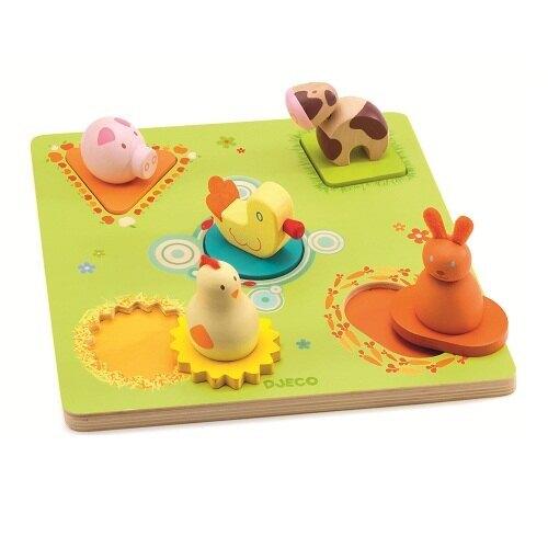【Djeco智荷】木拼圖-小鴨的約會