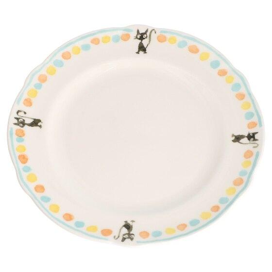 日本三鷹美術館 限定 原創 陶瓷盤 24cm JIJI黑貓吉吉 魔女宅急便 宮崎駿 吉卜力 盤子 餐盤 盤 真愛日本
