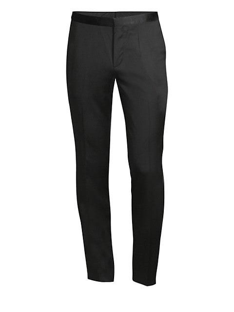 Hetons Virgin Wool & Silk Tuxedo Trousers