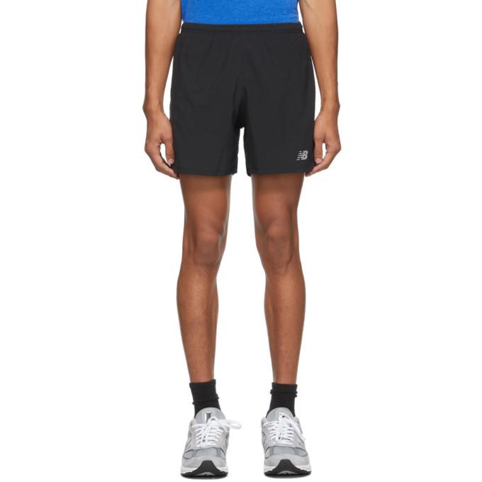 New Balance 黑色 Impact Run 5-Inch 短裤