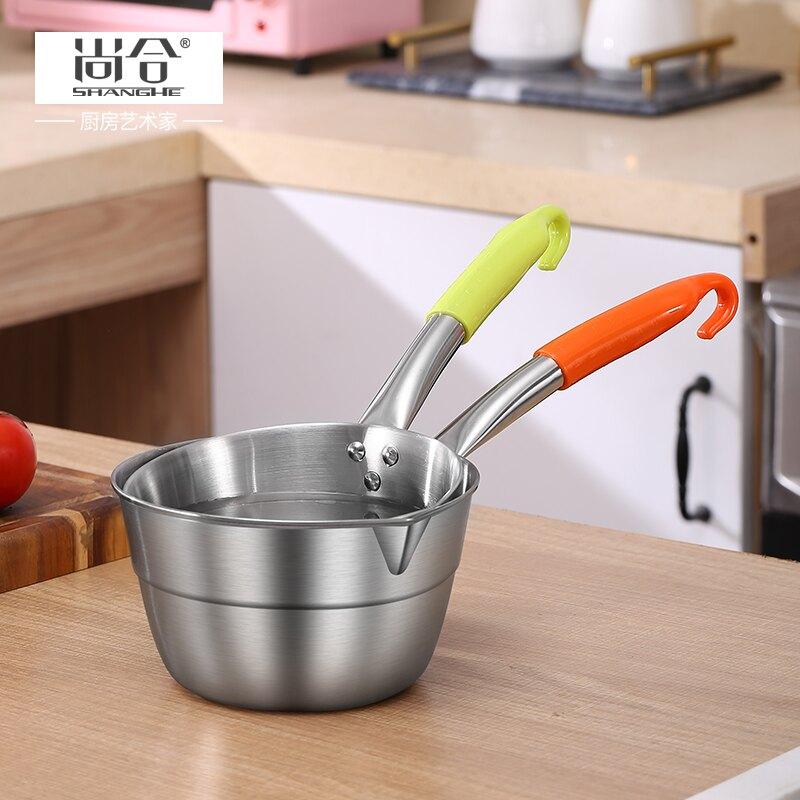 不鏽鋼水瓢 不銹鋼家用水瓢水勺廚房瓢子帶柄勺子盛水舀子舀水瓢水飄長柄水漂【MJ5497】