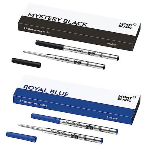 Montblanc 萬寶龍 黑~藍色 原子筆芯 粗 (M) *4支