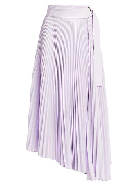 Arielle Pleated Asymmetric Midi Skirt