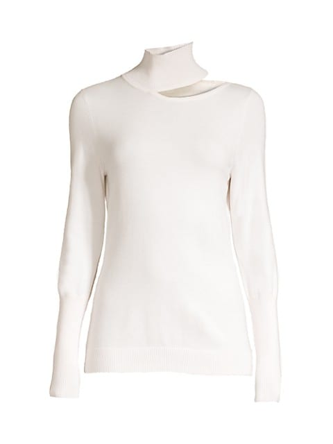 Vita Wool-Blend Cutout Mockneck Sweater
