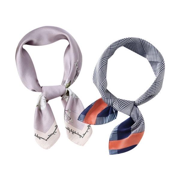 ins復古風時尚小領巾/綁帶絲巾(1入) 款式隨機出貨【小三美日】D022212