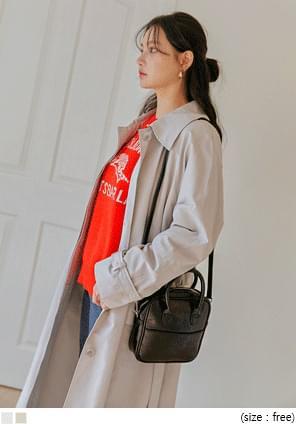 韓國空運 - 隱藏式單排釦風衣外套 大衣外套