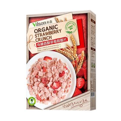 米森Vilson 有機香酥草莓穀脆片(150g/盒)