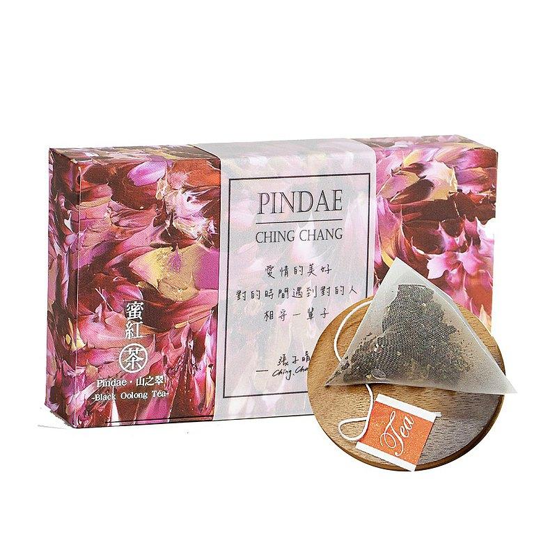 【山之翠X御書房】茶繪聯名系列 不加糖的幸福 蜜紅茶 立體茶包(一盒 10包入)