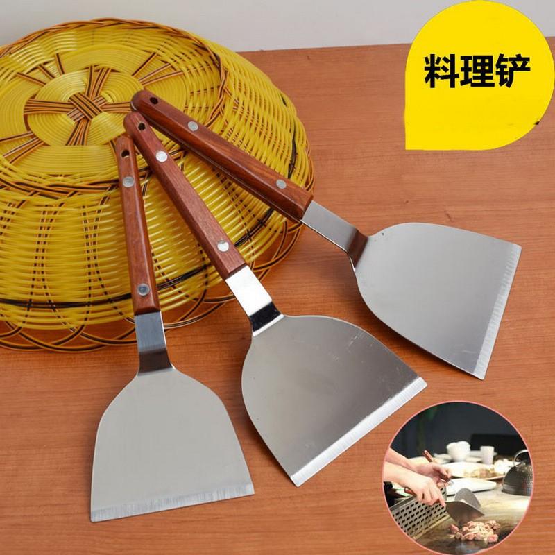 不銹鋼牛扒鏟烘焙煎餅鏟料理鏟鐵板燒鏟披薩平鏟牛排鏟手抓餅鏟子