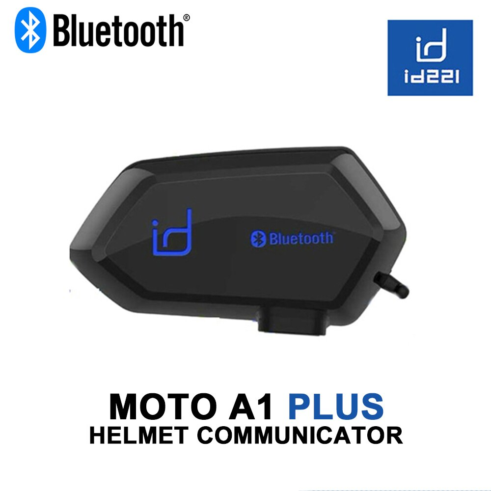 id221 MOTO A1 PLUS 機車安全帽專用 藍牙耳機 一體式麥克風喇叭 通用半罩 全罩