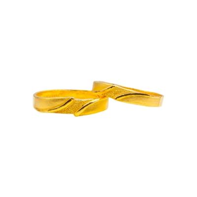 JoveGold漾金飾 契合黃金成對戒指