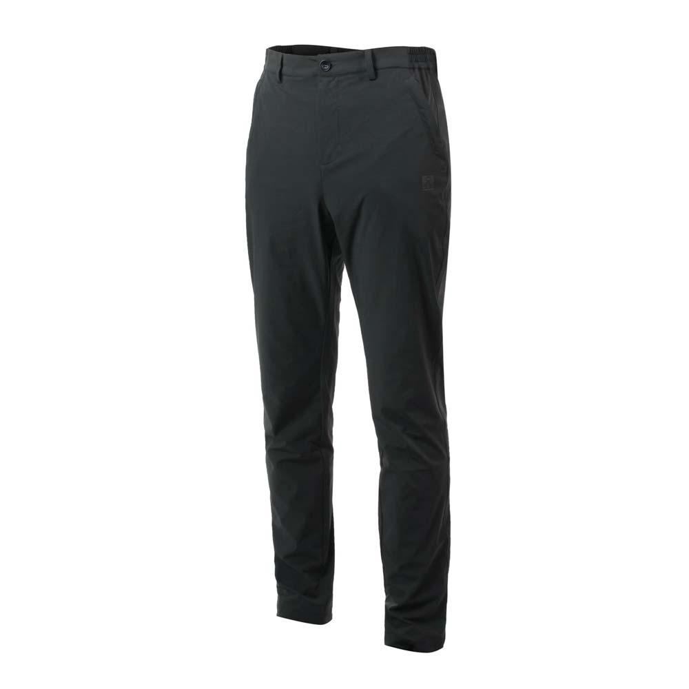 FIRESTAR 男戶外多功能長褲-平織 運動 吸濕排汗 慢跑 反光 灰