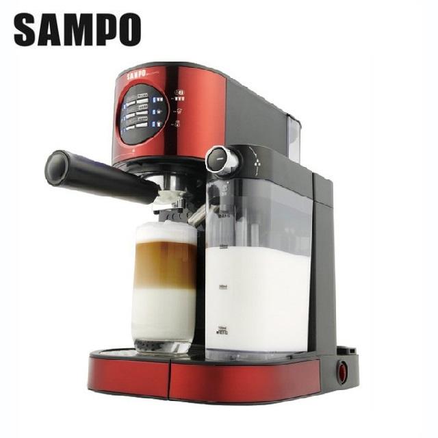 【SAMPO聲寶】 義大利進口義式濃縮奶泡咖啡機(HM-L17201CL)