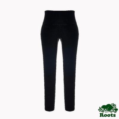 Roots女裝-城市悠遊系列 彈性高腰內搭褲-黑色