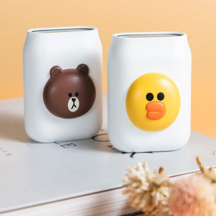 【LINEFRIENDS】空氣品質監測器(熊大/莎莉)★內置電池, 無線帶著走,幫您注意空氣品質!