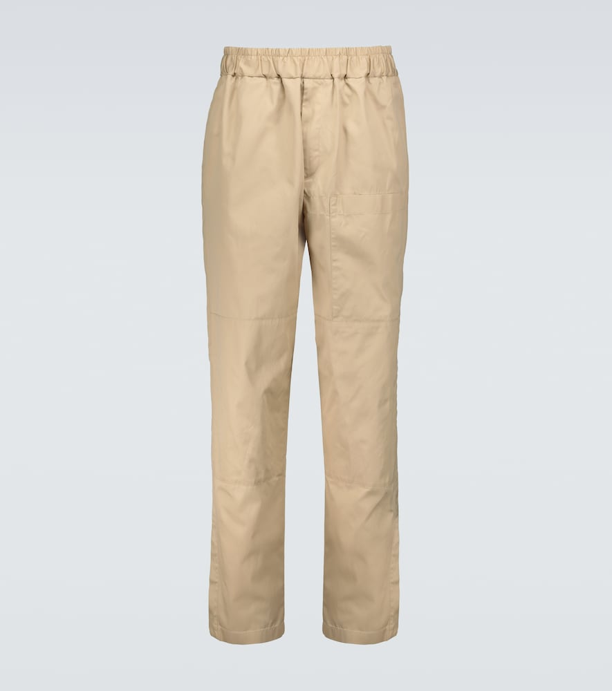Relaxed-fit cotton chino pants