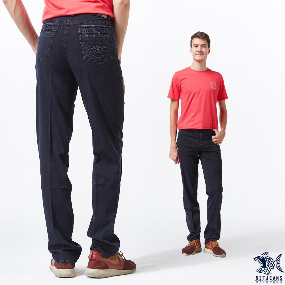 斷貨出清nst jeans 男牛仔褲 直筒中腰 自由之心 單寧藍 390(5672) 夏季薄款