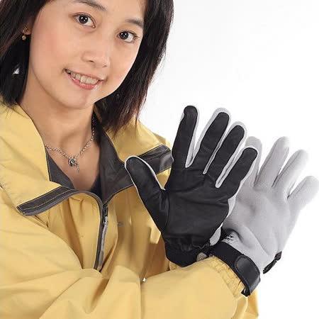 SNOWTRAVELWINDBLOC防風保暖手套(小羊皮)(銀色)