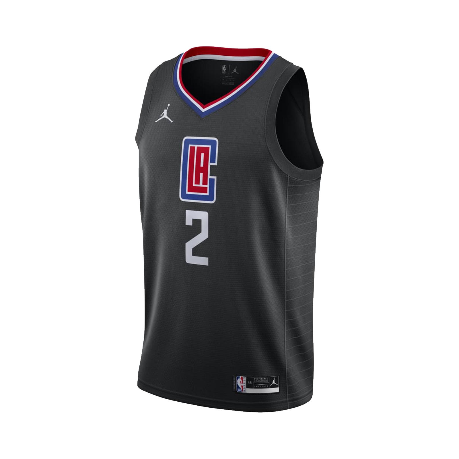 Nike NBA球衣 洛杉磯 快艇隊 可愛 Kawhi Leonard 2 黑 藍 喬丹【ACS】 CV9480-011