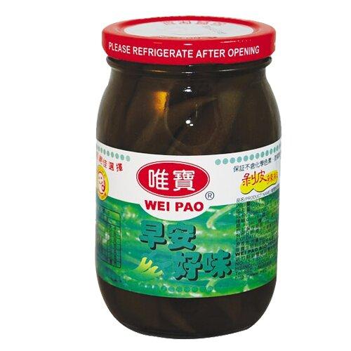 唯寶早安好味剝皮辣椒玻璃罐450g