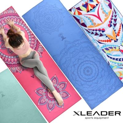 Leader X 波羅多柔細雙面絨 速乾防滑瑜珈鋪巾 四種花色任選-急