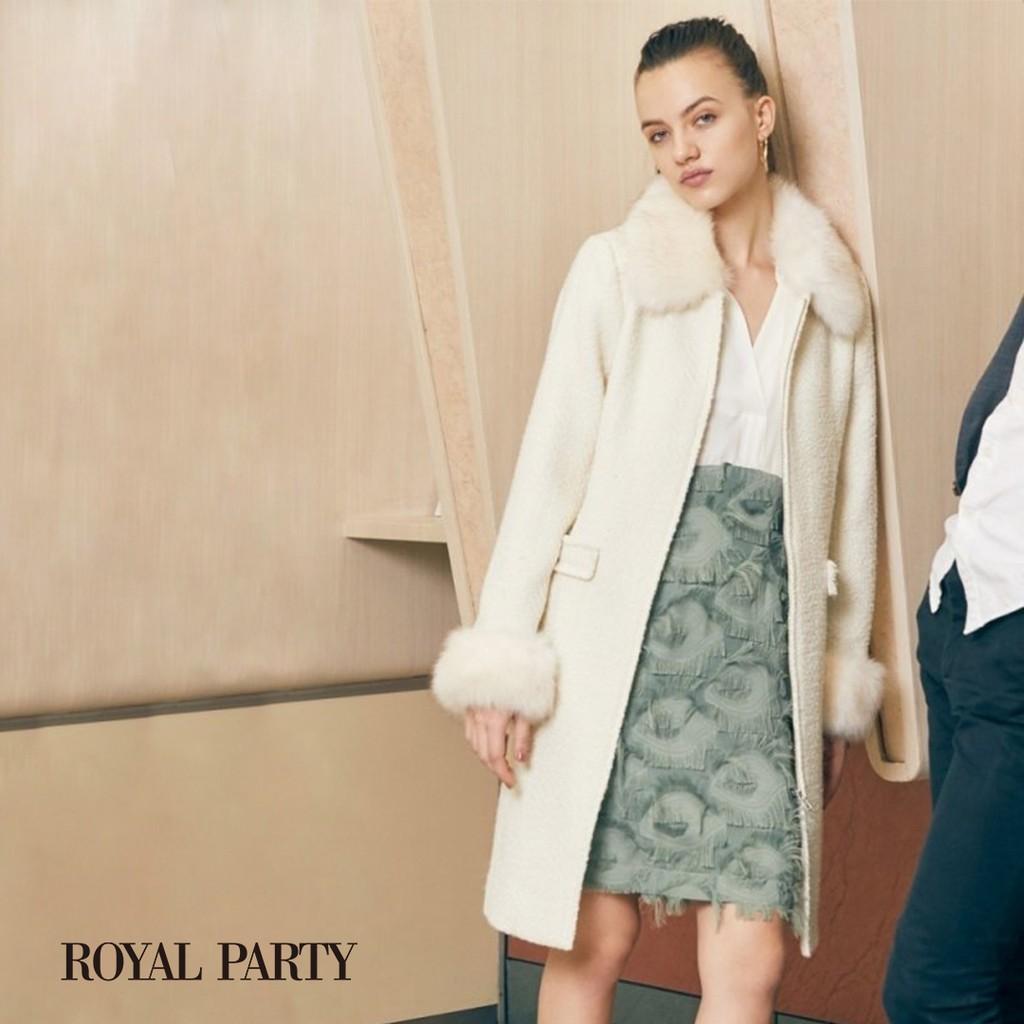 【ROTAL PARTY】外套季☆美美氣質~毛毛領毛呢大衣