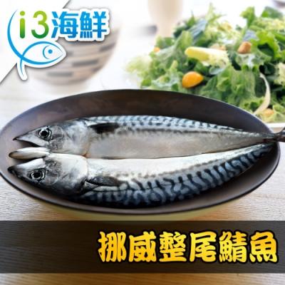 【愛上海鮮】挪威整尾鯖魚3包(290g±10%/尾)
