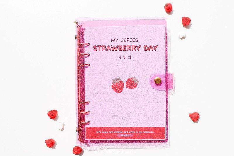 粉色閃光筆記本(不包括鑰匙扣)