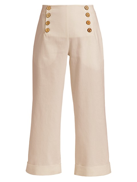 Quinn Linen Stretch Sailor Pants