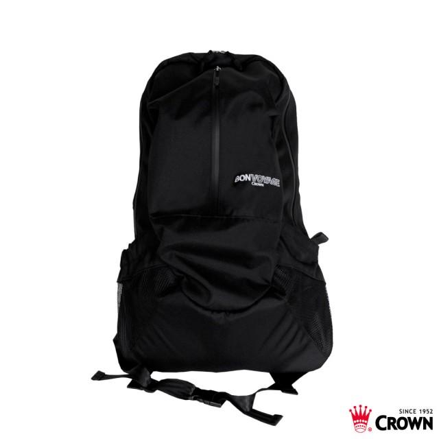 【CROWN】 BONVOYAGE 運動後背包 - 黑色款