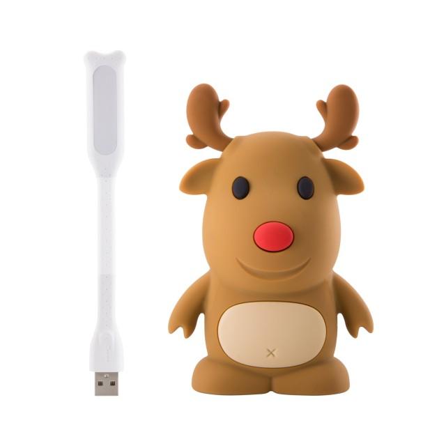【Bone Collection】公仔行動電源 6700 mAh - 麋鹿 ( 加贈 LED 燈組 )