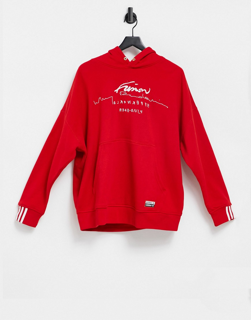 adidas Originals hoodie in red