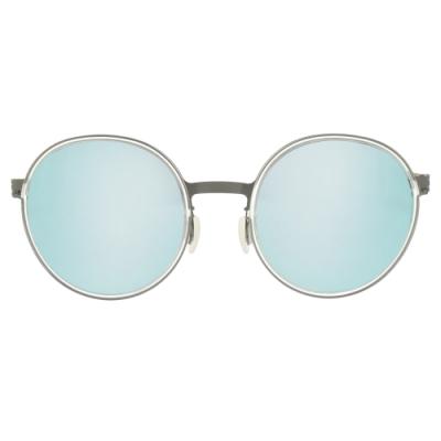 VYCOZ 太陽眼鏡 大圓框款 / 霧銀-湖泊水銀灰鏡片 #SILK GRY-C