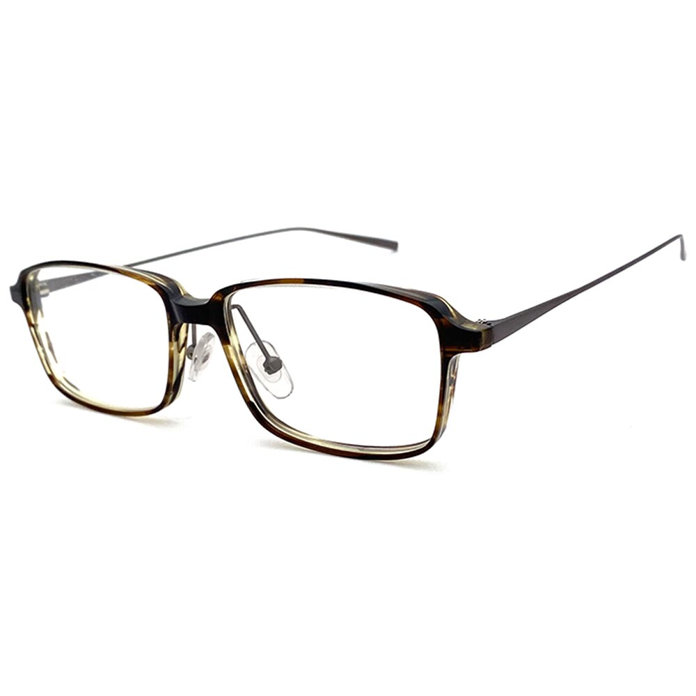 【SUNS】複合材質系列光學眼鏡鏡框 米白漸層茶框(全框)
